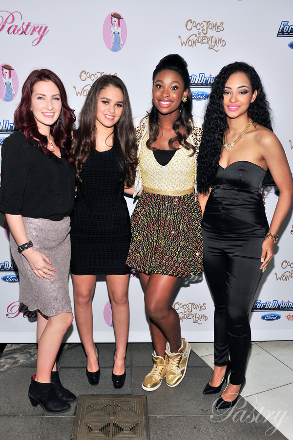 Pastry Ambassadors, Katie Armiger, Madison Pettis, Coco Jones, and Jessica Jarrell, on the Red Carpet at Coco's Sweet 16
