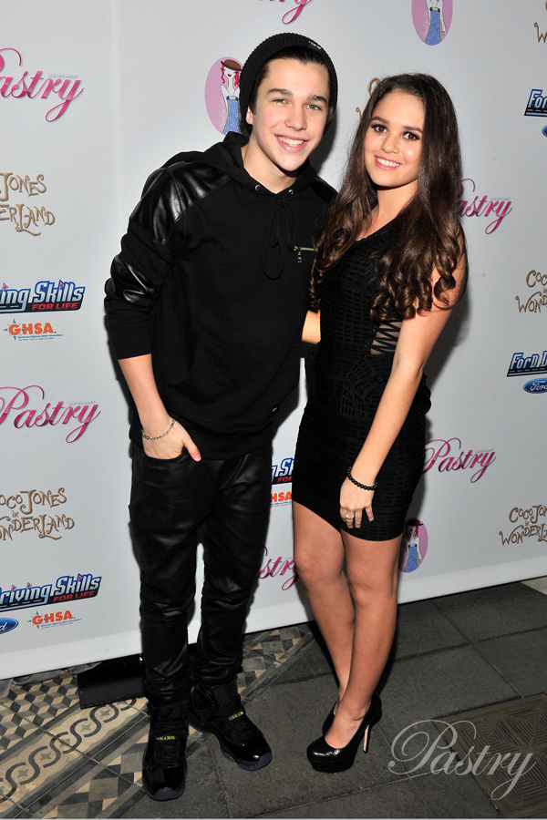 Austin Mahone and Pastry Ambassador, Madison Pettis, on the Red Carpet at Coco Jone's Sweet 16
