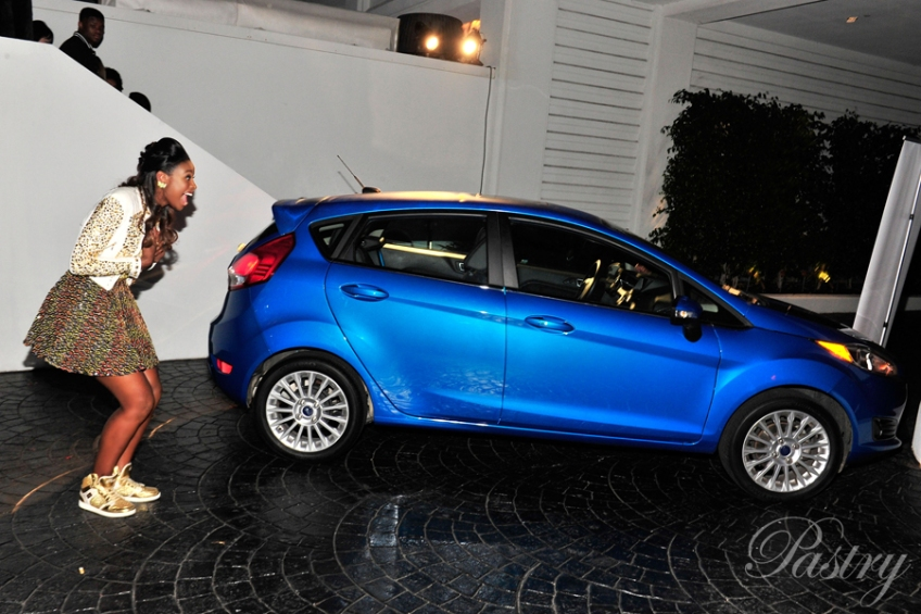 Ford presents Coco with her Ford Fiesta for her 16th Birthday (so cute!!)