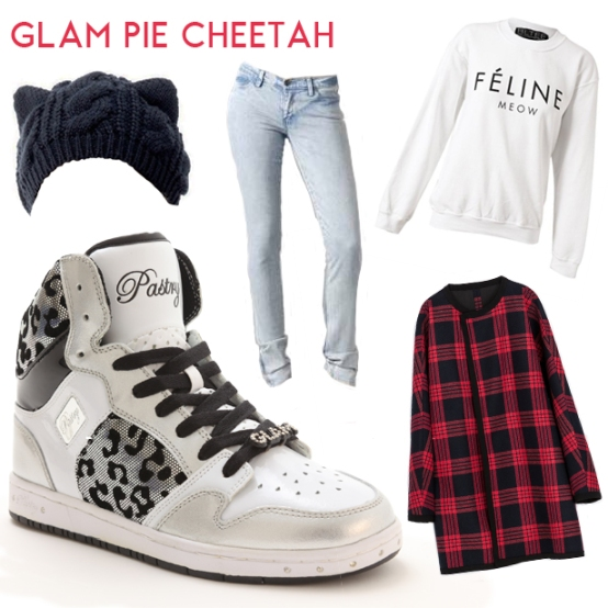 Sneakers for girls Glam Pie Cheetah