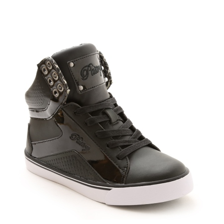 Pastry Pop Tart Grid Black High Top Dance Sneaker 2.jpg